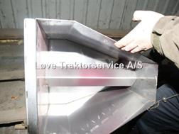 Kongskilde Rustfri indløb. 102 mm