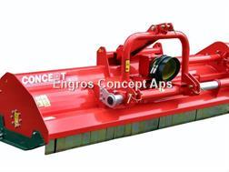 Perrugini MT300 Slagleklipper Bagmonteret m. hydr. Sideforsk