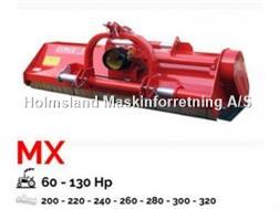 Perrugini MX220 Slagleklipper Bagmonteret m. hydr. Sideforsk