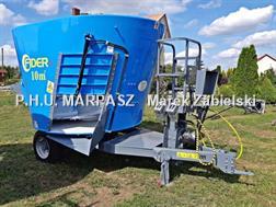 Divers Futtermischwagen 10m3 / Paszowóz / Carro de alimen
