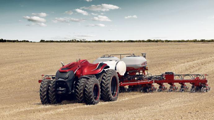 Tracteur autonome Case IH - Enfin des essais grandeur nature!
