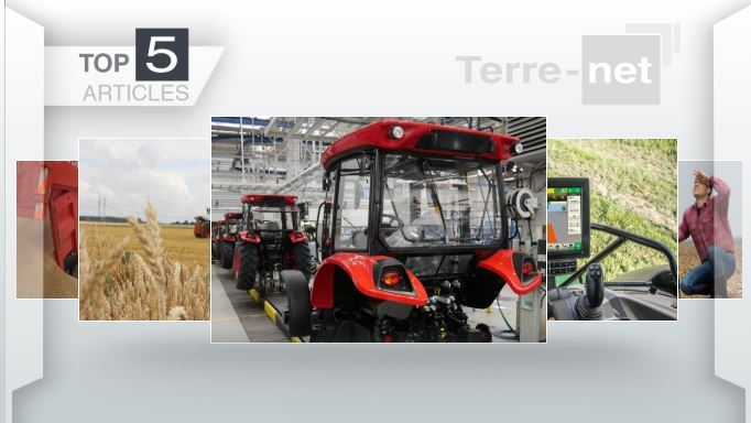 Top articles - Zetor, John Deere,sécheresse et prix du blé : les sujets majeurs de la semaine