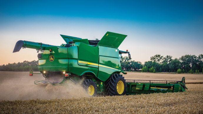 Moissonneuse-batteuse - Si vous cassez plus de 1% des grains, John Deere vous rembourse!
