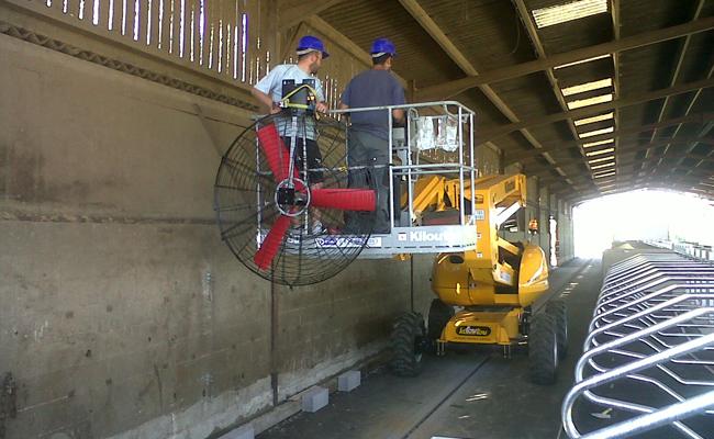 Installation ventilateurs avec nacelle