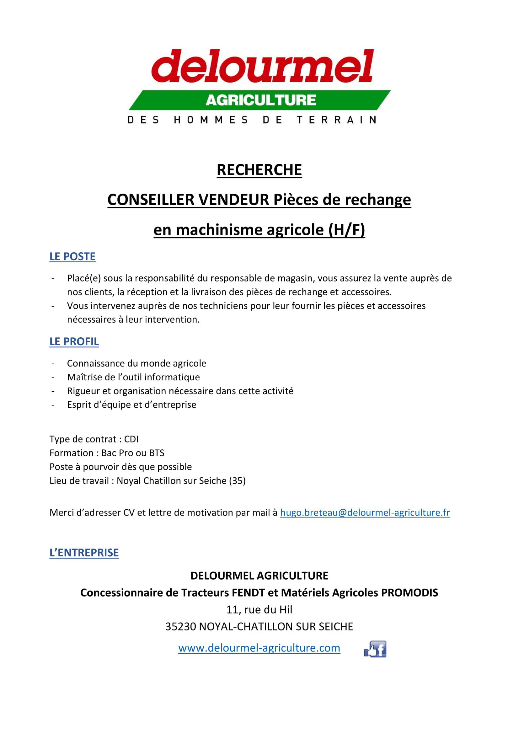 DELOURMEL AGRICULTURE RECRUTE!