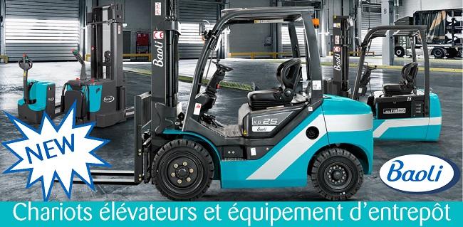Chariots élévateurs & équipement d'entrepôt