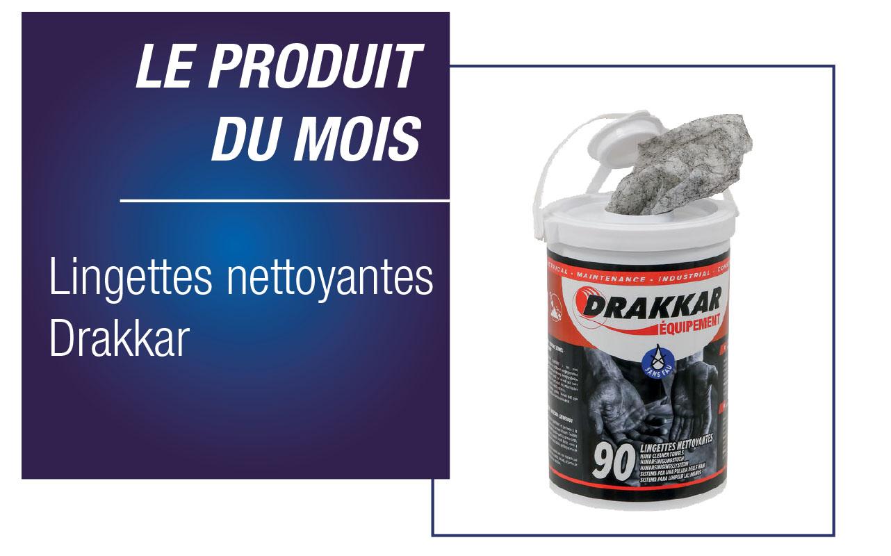 LINGETTES NETTOYANTES DRAKKAR - SCEAU DE 90 PC