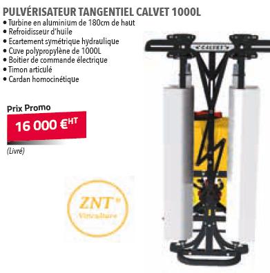 PULVERISATEUR TANGENTIEL CALVET 1000L